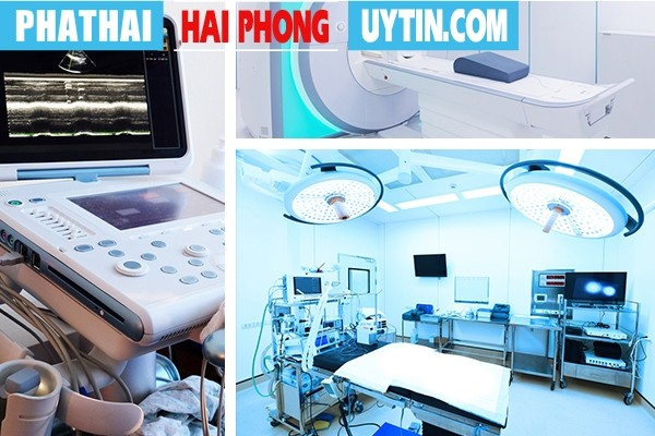 Tại phòng khám có đầy đủ trang thiết bị y tế hiện đại