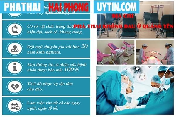 Địa chỉ phá thai không đau ở Quảng Yên