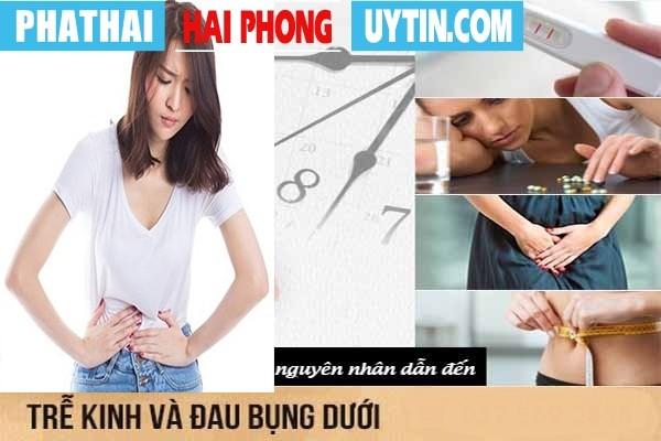 Nguyên nhân gây ra hiện tượng trễ kinh đau bụng lâm râm